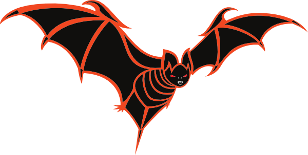 Free Sinister Looking Bat Clip Art.