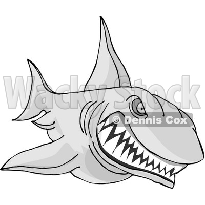 Clipart Sinister Shark With Sharp Teeth.