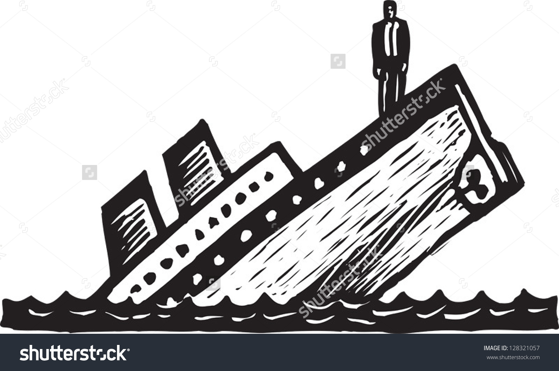 Sinking ship clip art.
