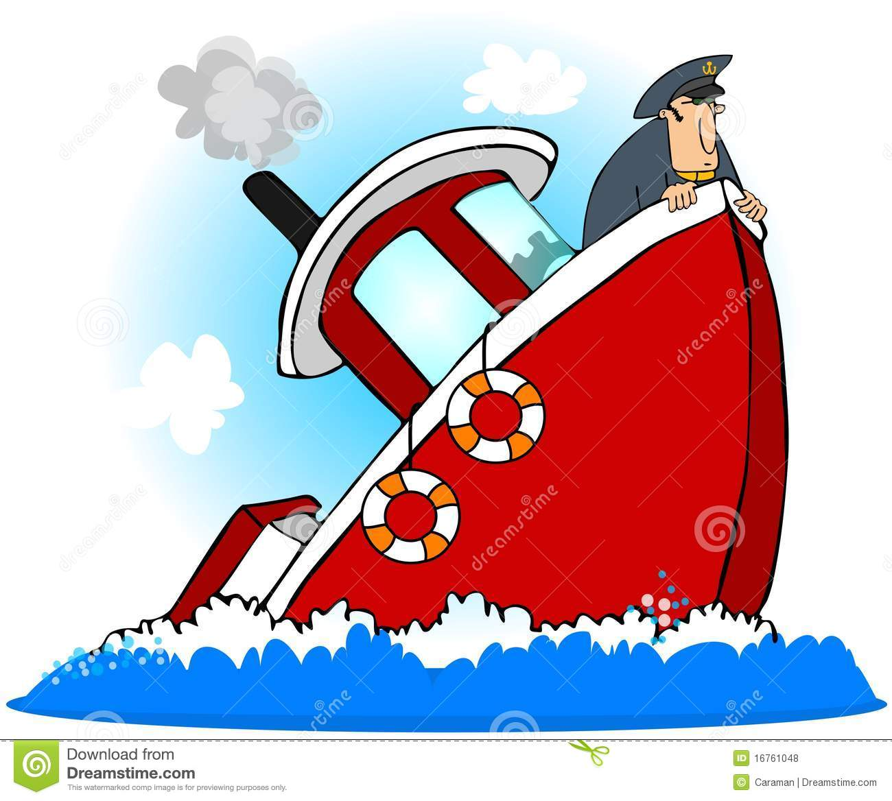 Sinking Boat Clipart.