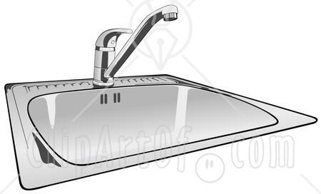 Kitchen Sink Clipart.