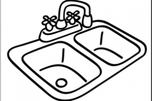 Sink clipart black and white 1 » Clipart Portal.