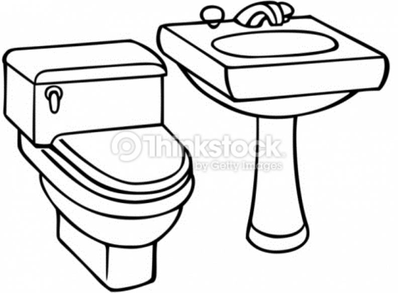 Sink clipart black and white 4 » Clipart Station.