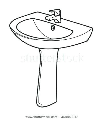 sink clipart black and white.