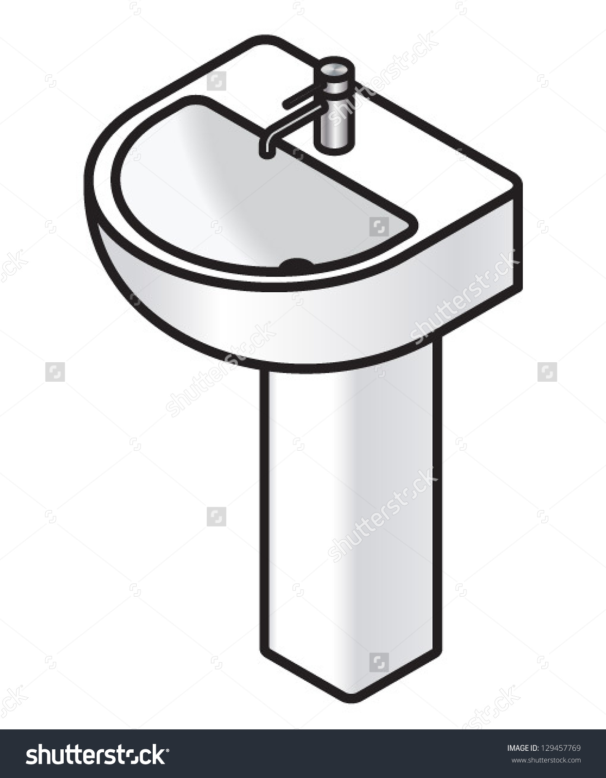 Sink clipart black and white 2 » Clipart Station.