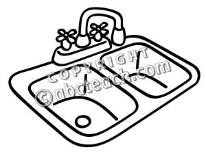 Awesome Sink Clip Art Clipart Black And Wh #116364.