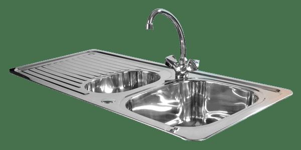 Stainless steel kitchen sink transparent.