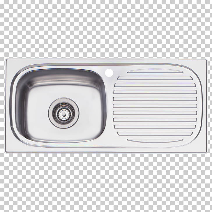Sink Bowl Tap Stainless steel, top view furniture kitchen.