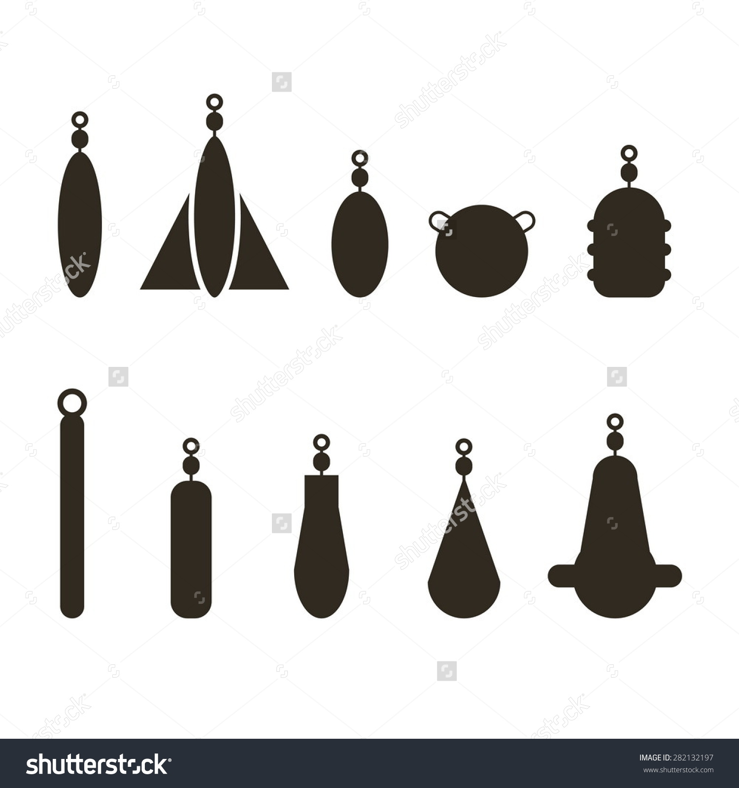 Fishing Sinker Stock Vector Illustration 282132197 : Shutterstock.