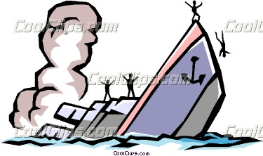 Clipart boat sinking.