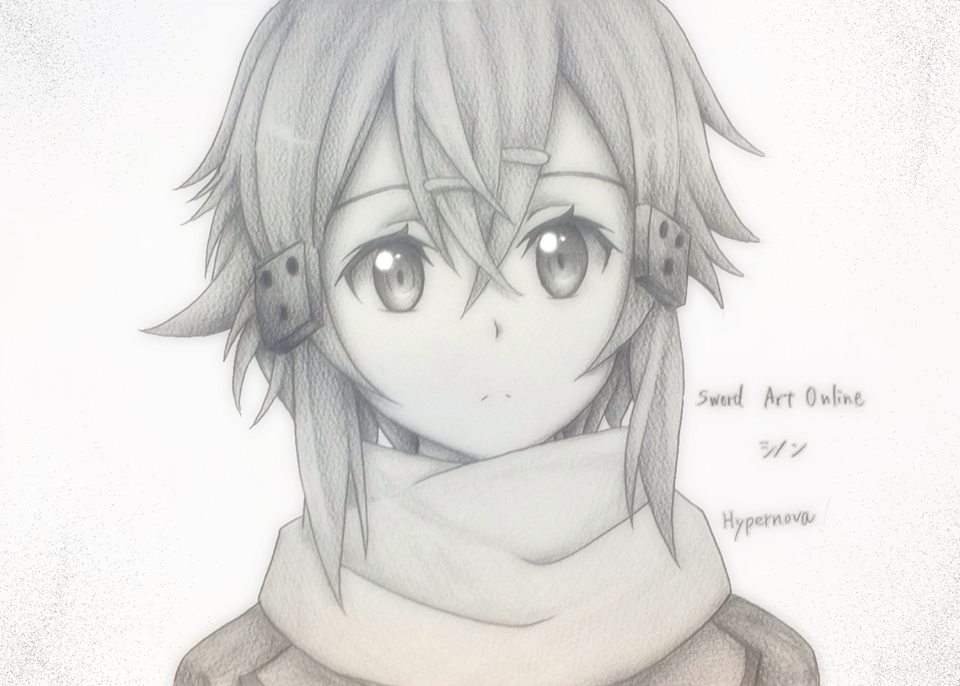 Sinon Drawing by Anime.