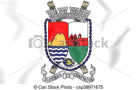 Picture of Sint Eustatius coat of arms. 3D Illustration.