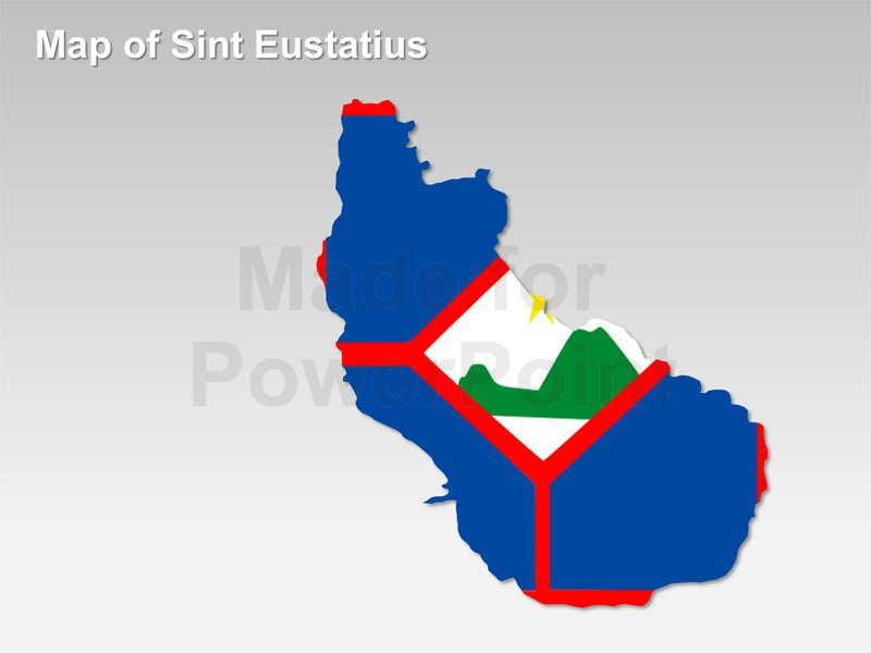 Sint Eustatius Map: Editable PowerPoint Maps.