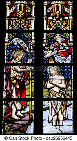 Stock Photo of Baptism of Jesus by Saint John.