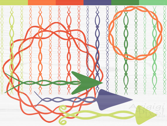 Items similar to arrow, border and circle clip art, sinuous.