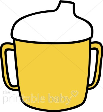 Yellow Sippy Cup Clipart.