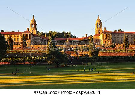 Stock Photo of Union Buildings, Pretoria at Sunset.