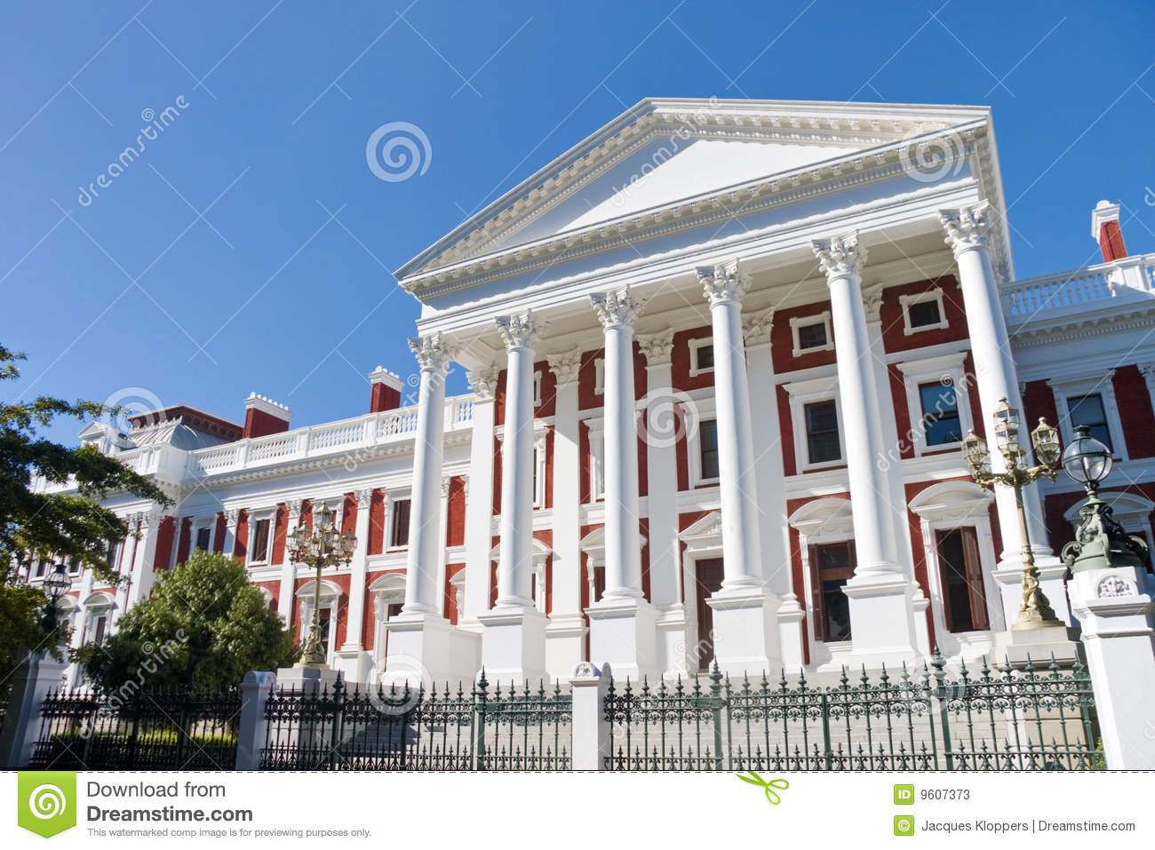 South African Parliament Buildings In Cape Town Stock Photos.