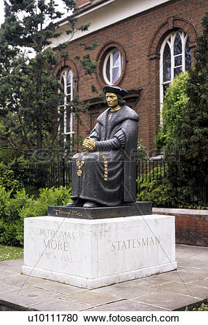 Stock Photography of Statue of Sir Thomas More.