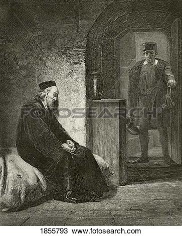 Stock Photo of Sir Thomas More 1478 To 1535 In Prison. From The.