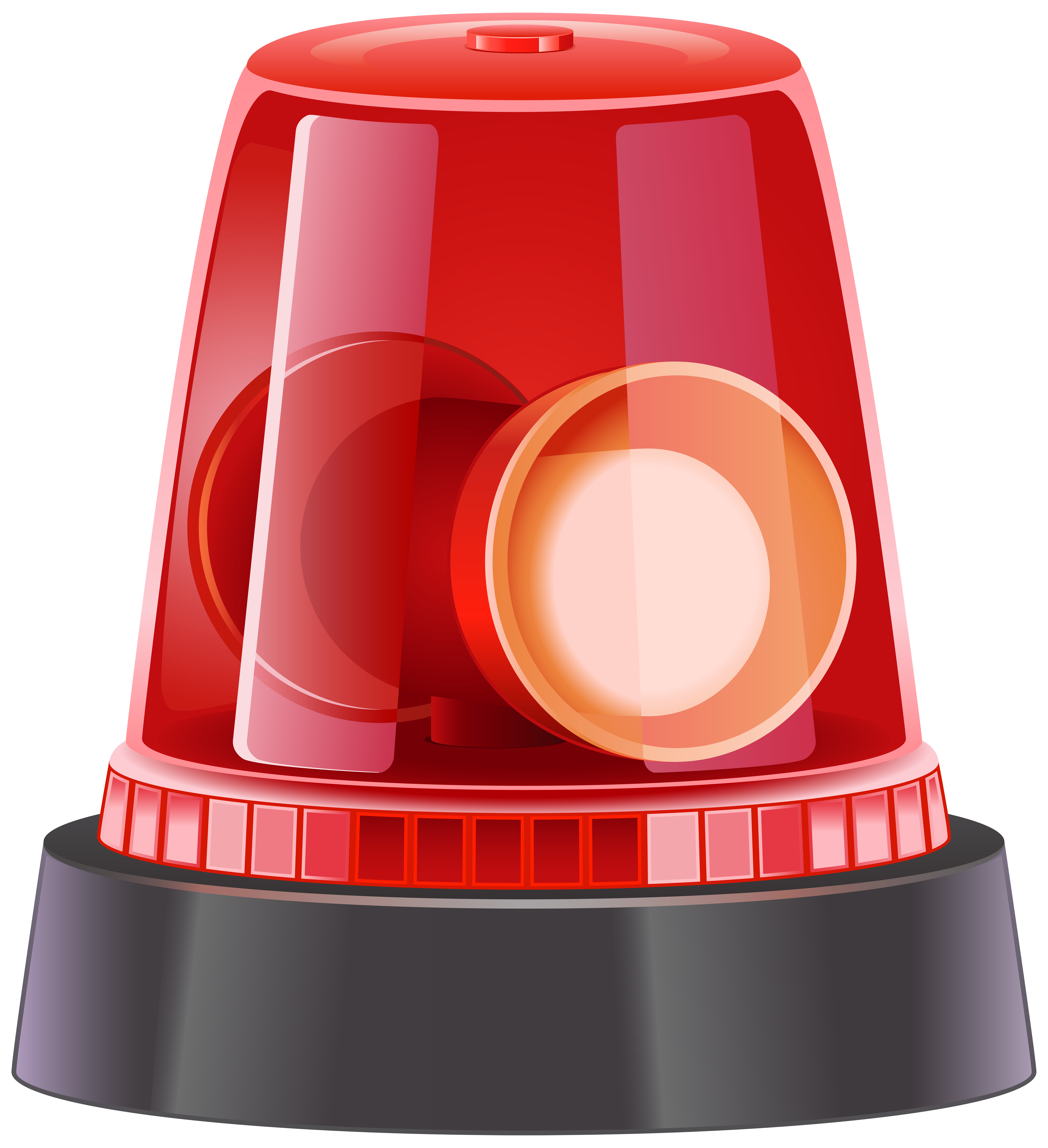 Red Police Siren PNG Clip Art Image.