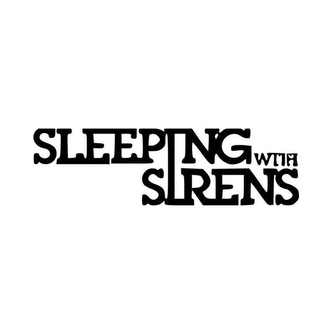 Sleeping With Sirens Band Logo Vinyl Decal Sticker.