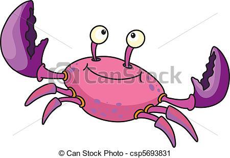 Vector Clip Art of cute crab.