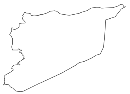 Syria black and white clipart.