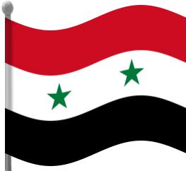 syria flag waving.