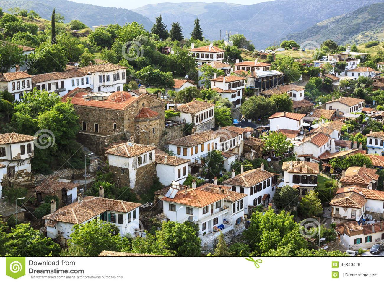 Small Village,Sirince, Smyrna, Turkey Stock Photo.
