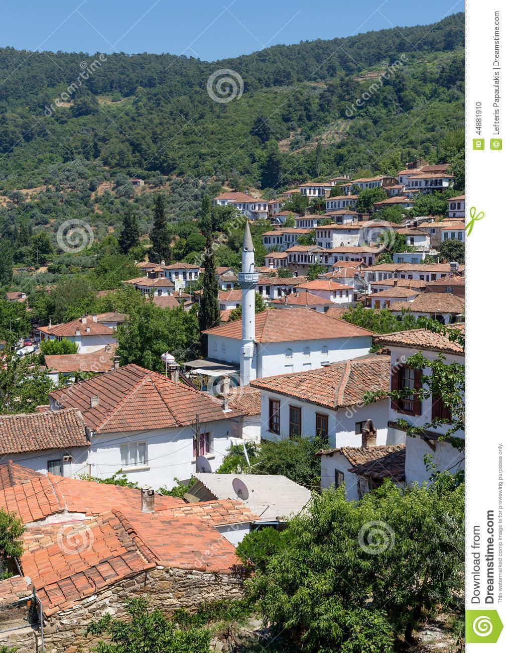 Sirince Village, Izmir Province, Turkey Stock Photo.