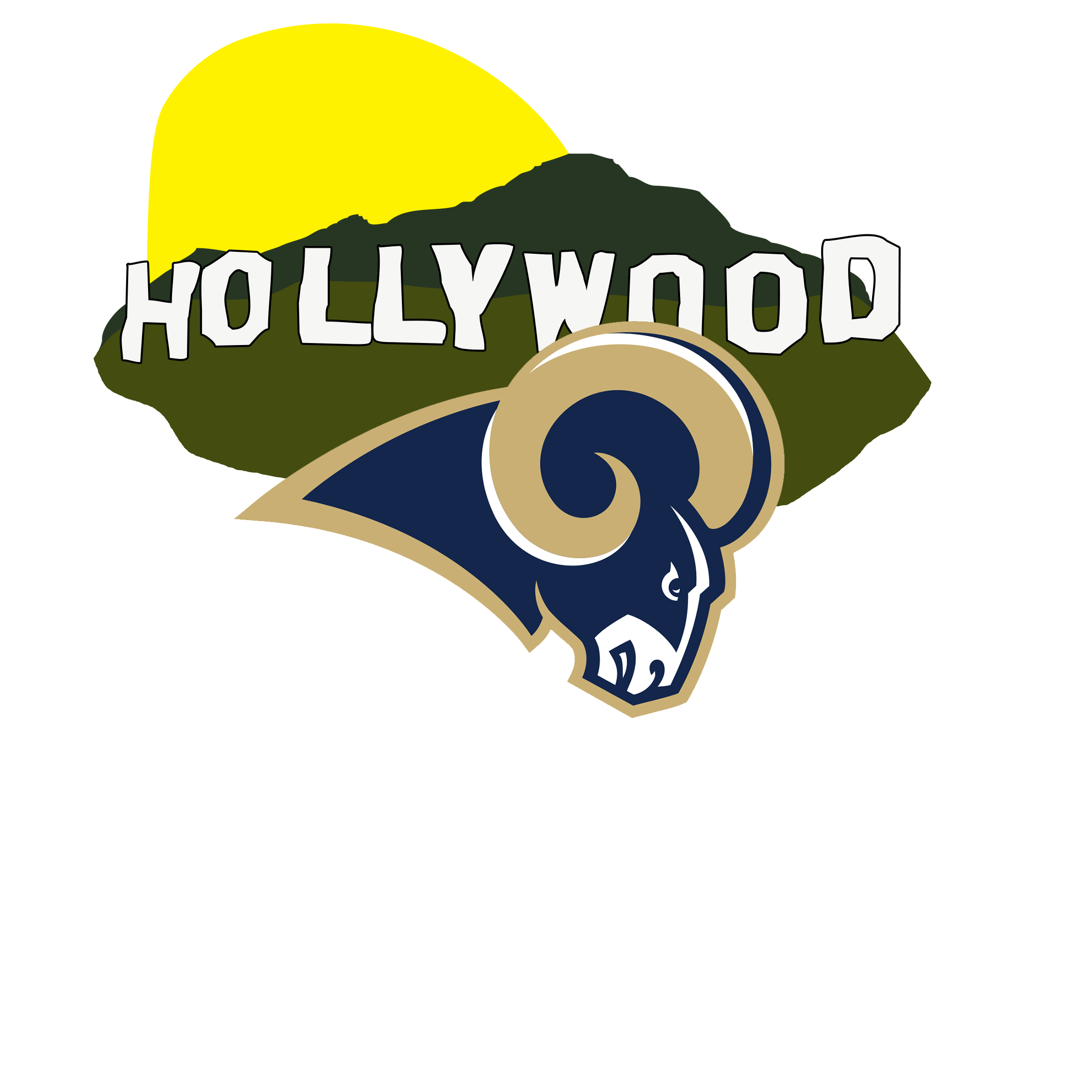 The SiriusXM Sports guide to a new Los Angeles Rams logo.