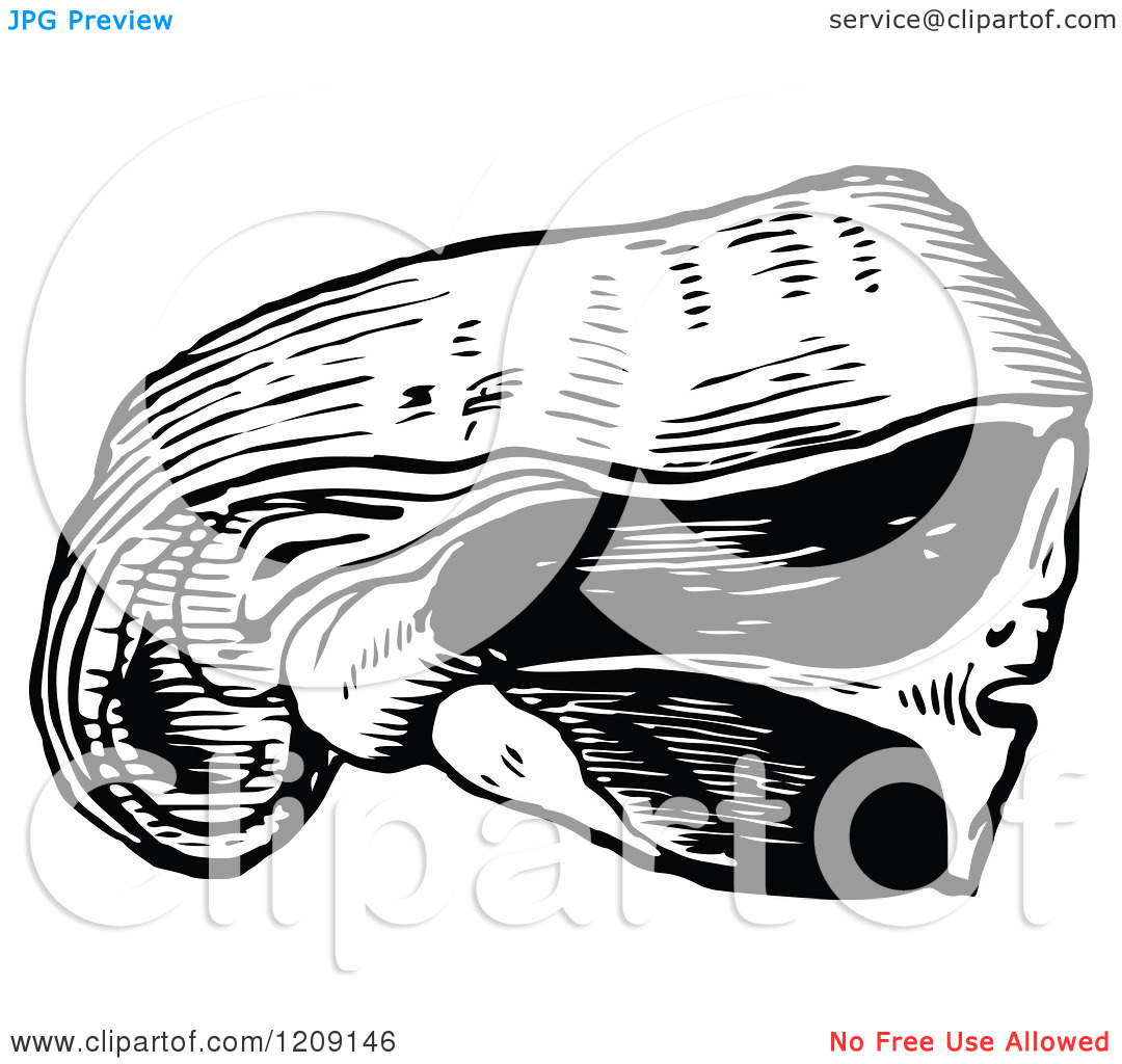 Clipart of a Vintage Black and White Sirloin of Beef.