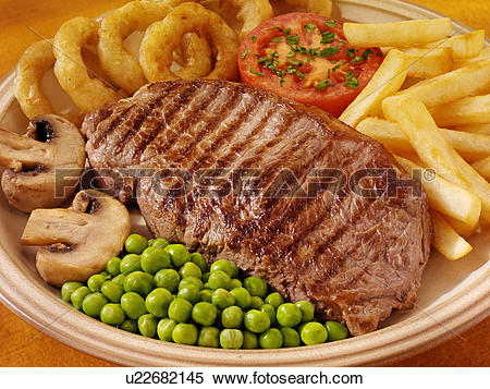 Stock Image of Sirloin Steak Meal u22682145.