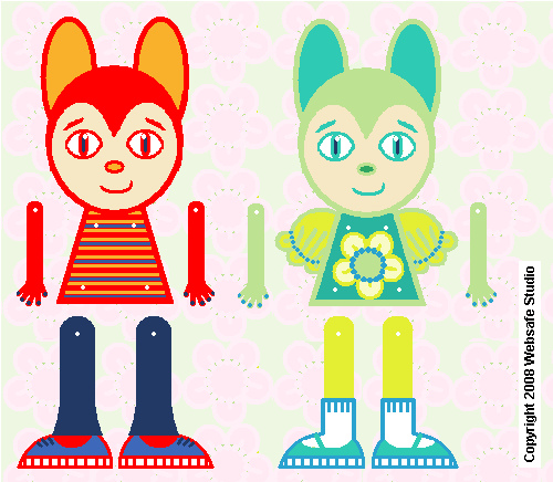 Buddy and Sissy Paper Toys by Websafe, via Flickr.