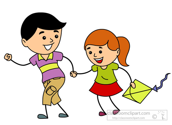 Brother and sister clip art.