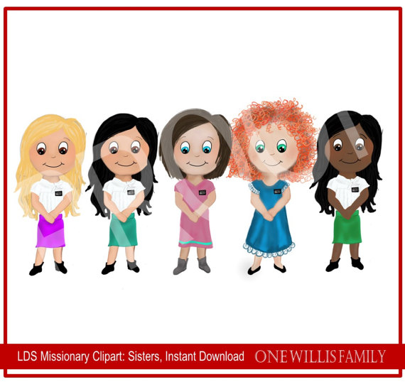 LDS Missionary Clipart: Instant Download.