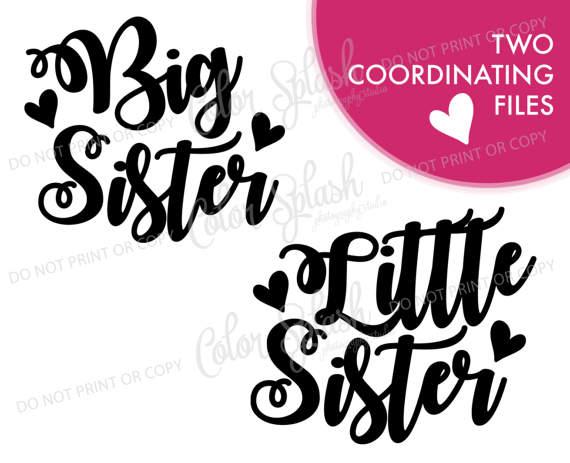 Big Sister Little Sister Clipart.