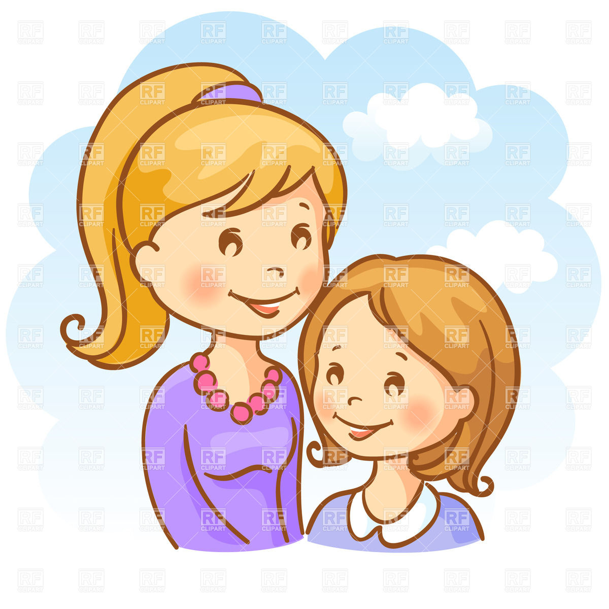 Two Sisters Clipart.