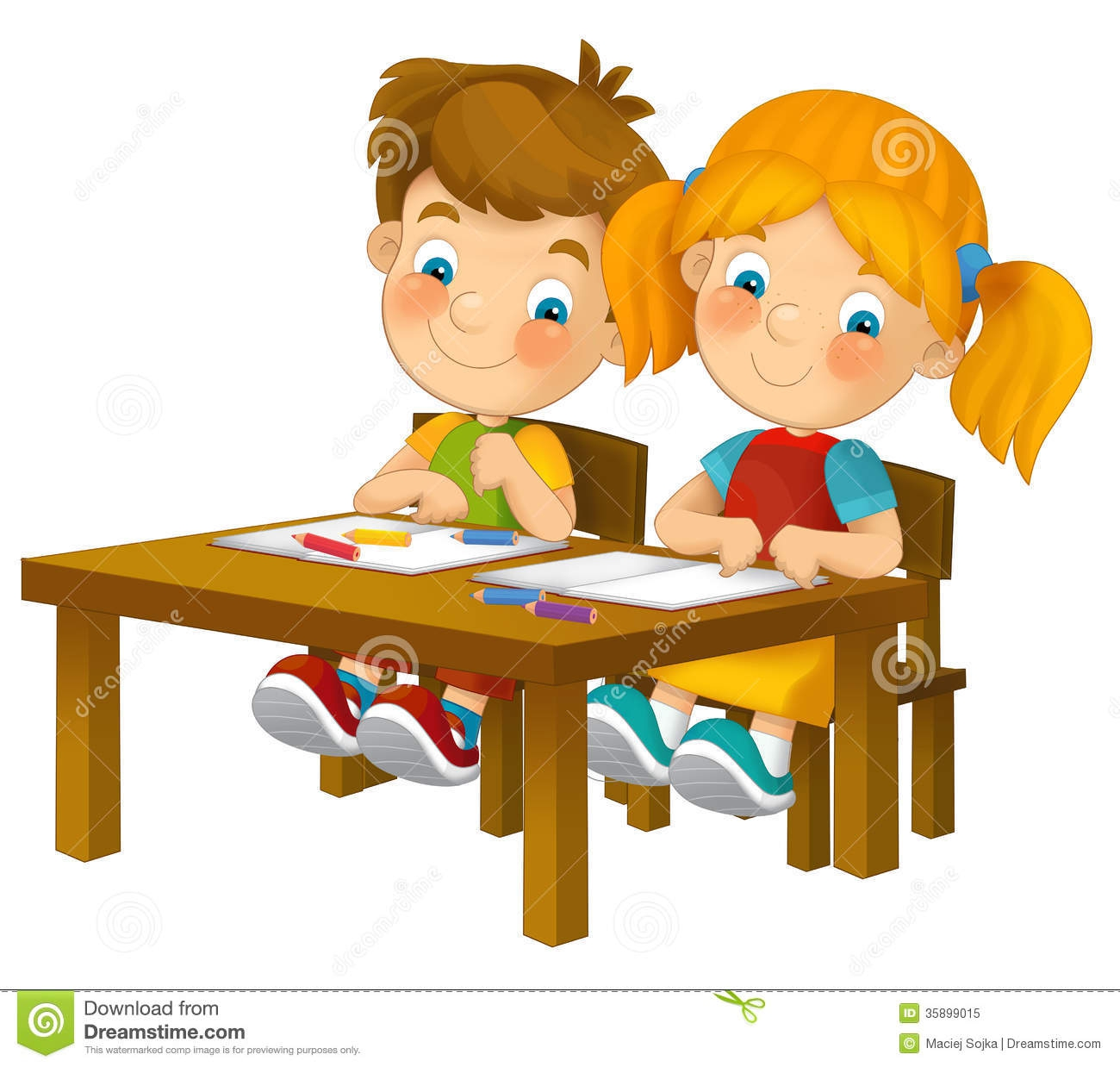 Students Working At Table Clipart#1986249.
