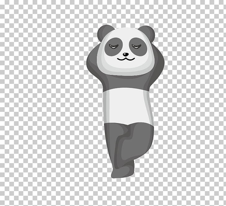 Giant panda Cartoon Bear, Sit back and relax small animals.