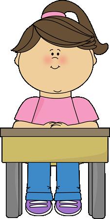 Clipart Children In School Desks Clipground