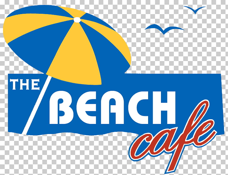 The Beach Cafe Logo Seaside resort Restaurant, Beach Sit.