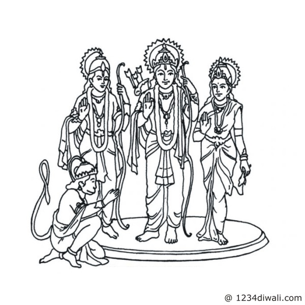 Ram Laxman Sita Clipart.