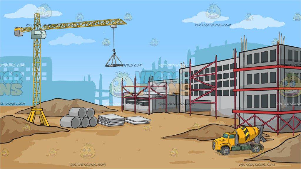Construction Site Background Clipart.