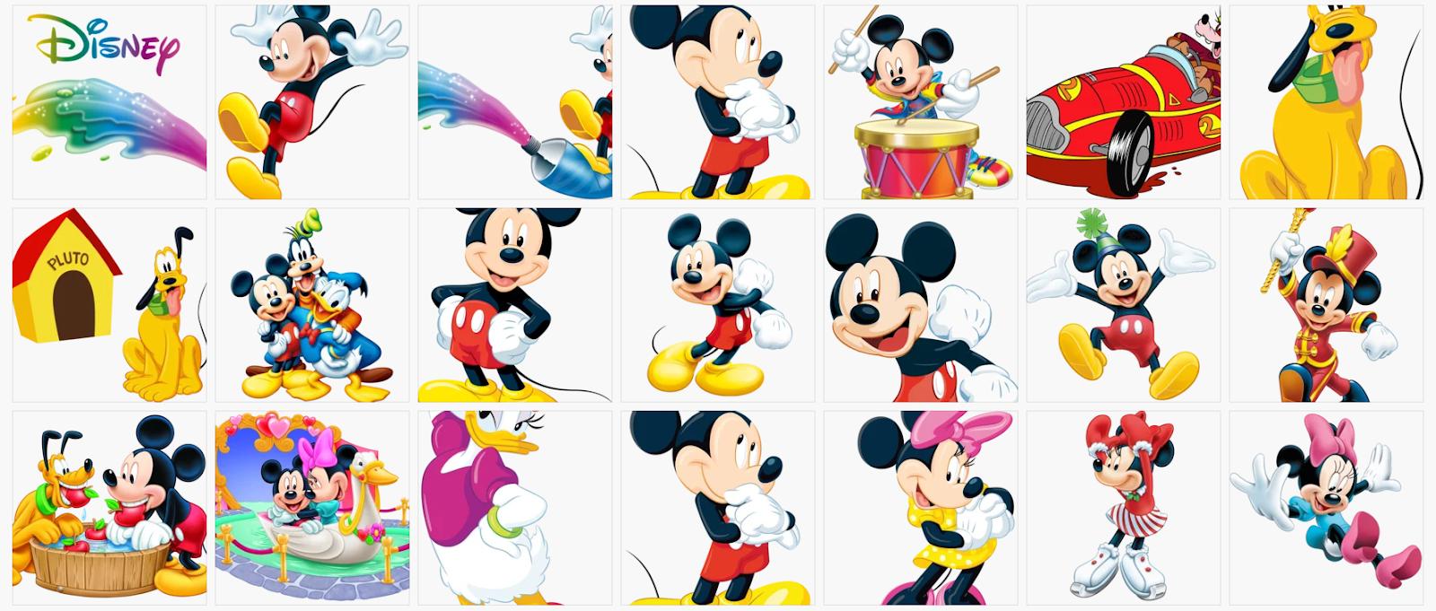 Imagens Mickey e sua turma em png free para baixar.