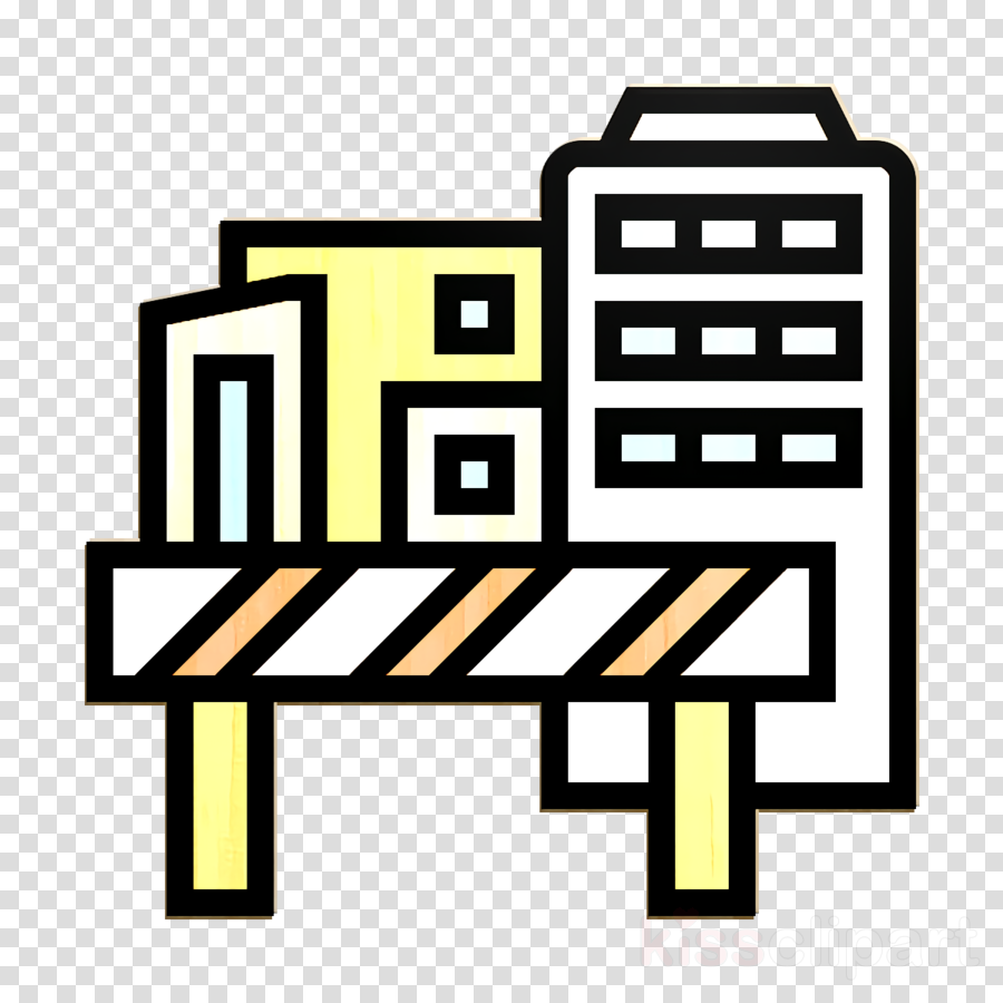 Architecture icon Zone icon Construction site icon clipart.