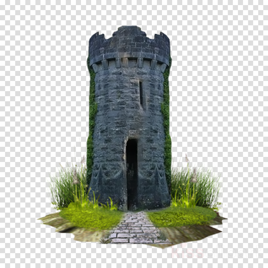ruins castle building historic site rock clipart.