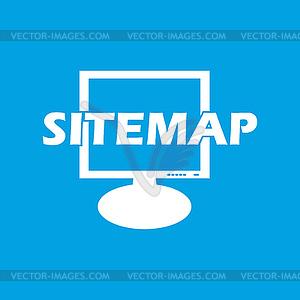 Sitemap white icon.
