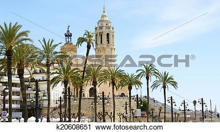Stock Photography of church of Sitges k20608651.